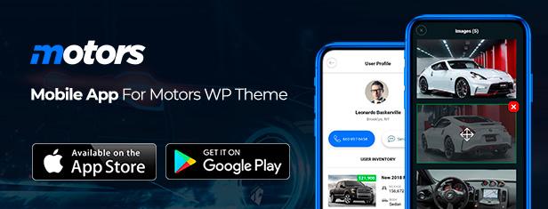 motors app - Motors - Car Dealer, Rental & Classifieds WordPress theme