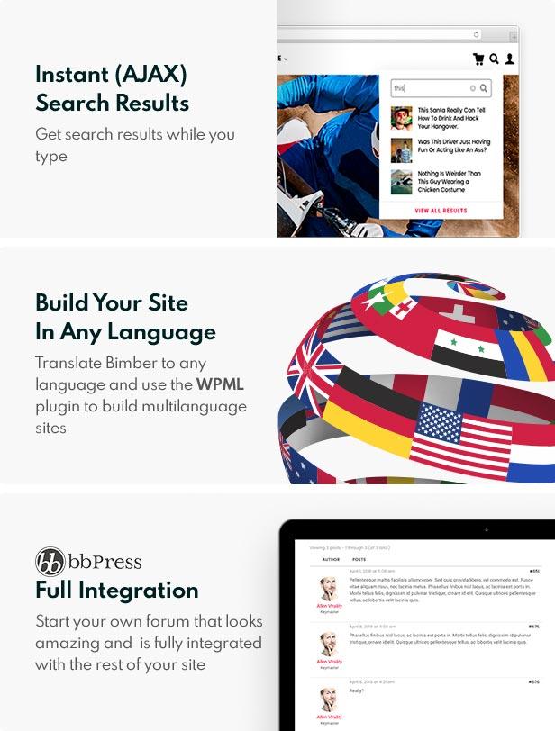 other features - Bimber - Viral Magazine WordPress Theme