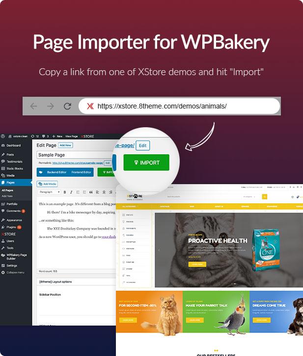 page Importer - XStore | Responsive Multi-Purpose WooCommerce WordPress Theme
