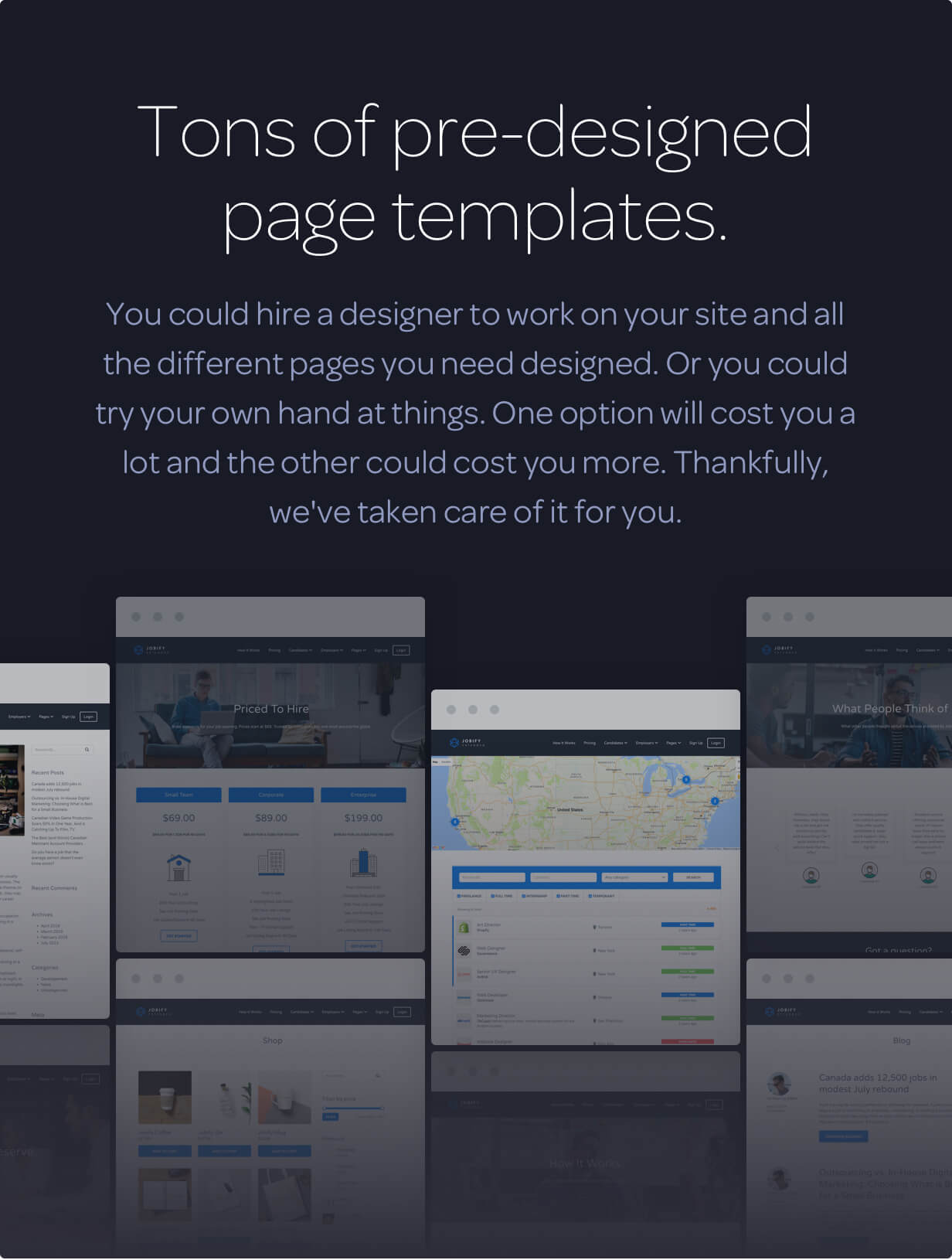 page templates - Jobify - Job Board WordPress Theme