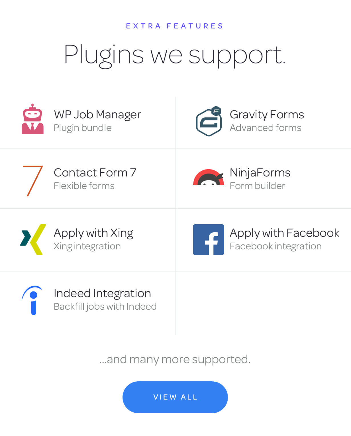 plugins we support - Jobify - Job Board WordPress Theme