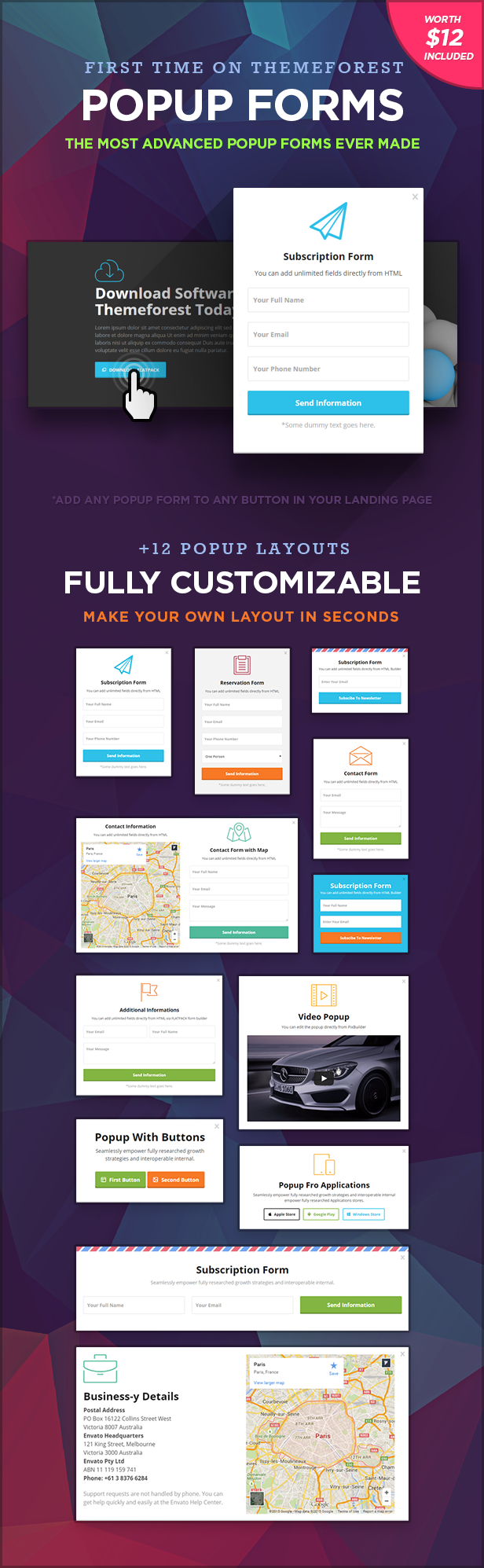 popups - FLATPACK – Landing Pages Pack With Page Builder