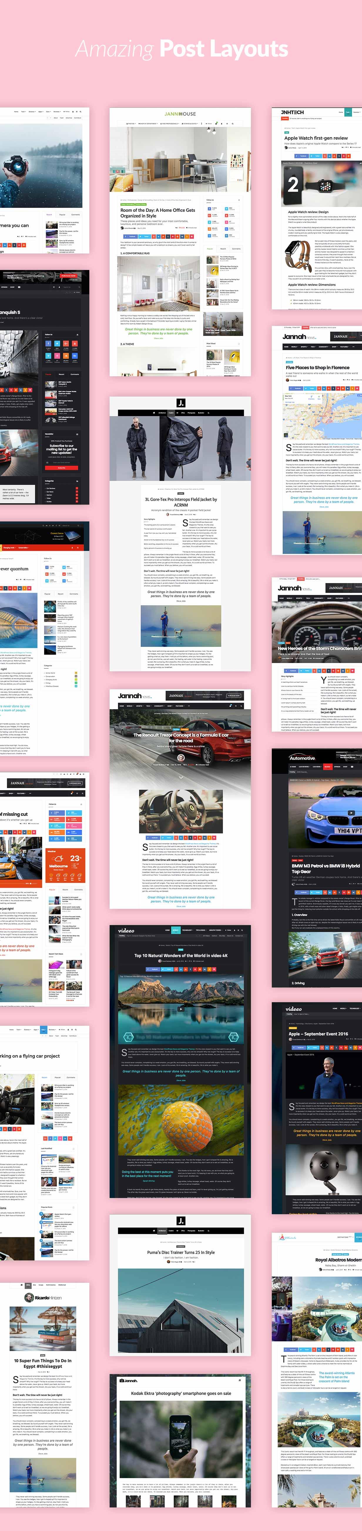 posts layouts - Jannah - Newspaper Magazine News BuddyPress AMP