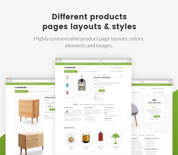 products layouts - WoodMart - Responsive WooCommerce WordPress Theme