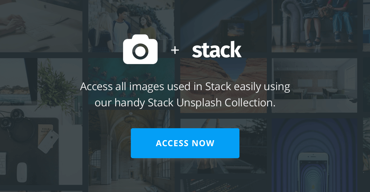 promo unsplash - Stack - Multi Purpose HTML with Page Builder