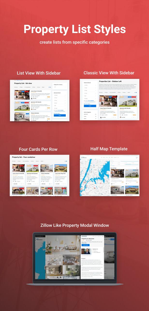 properties list - Residence Real Estate WordPress Theme