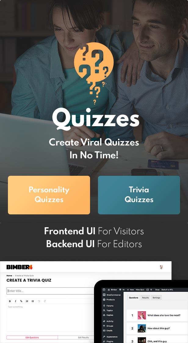 quizzes - Bimber - Viral Magazine WordPress Theme