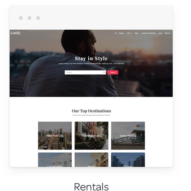 rentals demo image - Listify - Directory WordPress Theme