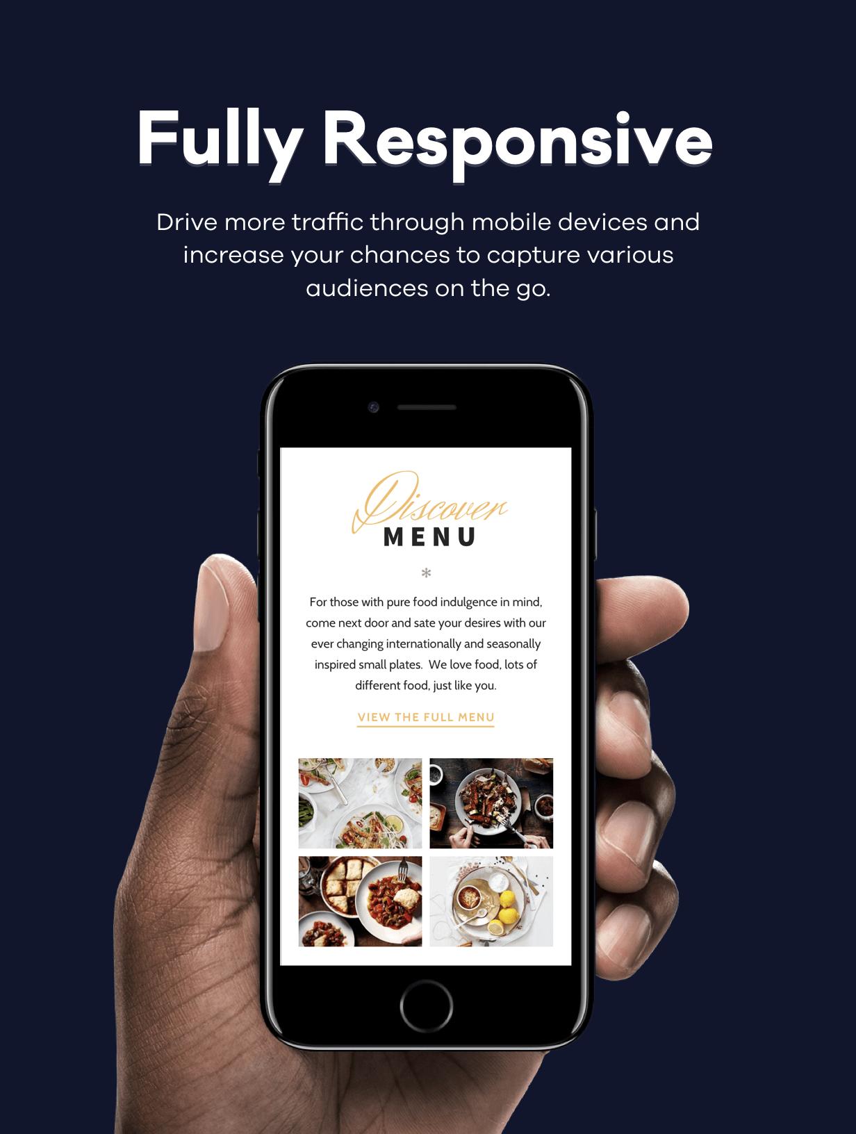 rosa responsive - ROSA 1 - An Exquisite Restaurant WordPress Theme