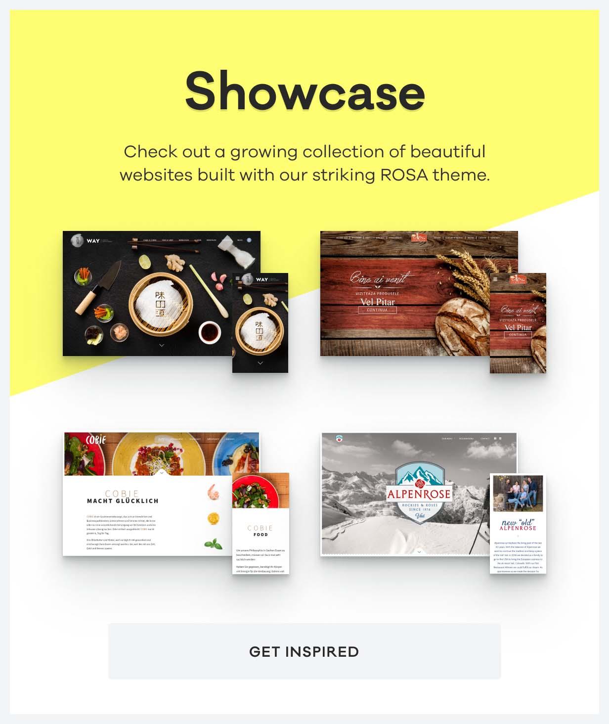 rosa showcase - ROSA 1 - An Exquisite Restaurant WordPress Theme