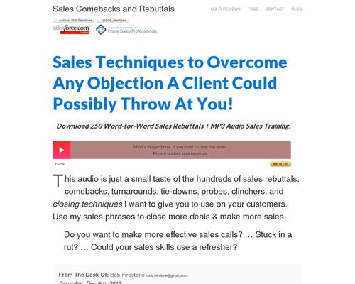 salespr0s x400 thumb - + Sales Rebuttals » Overcoming Objections » Closing Techniques