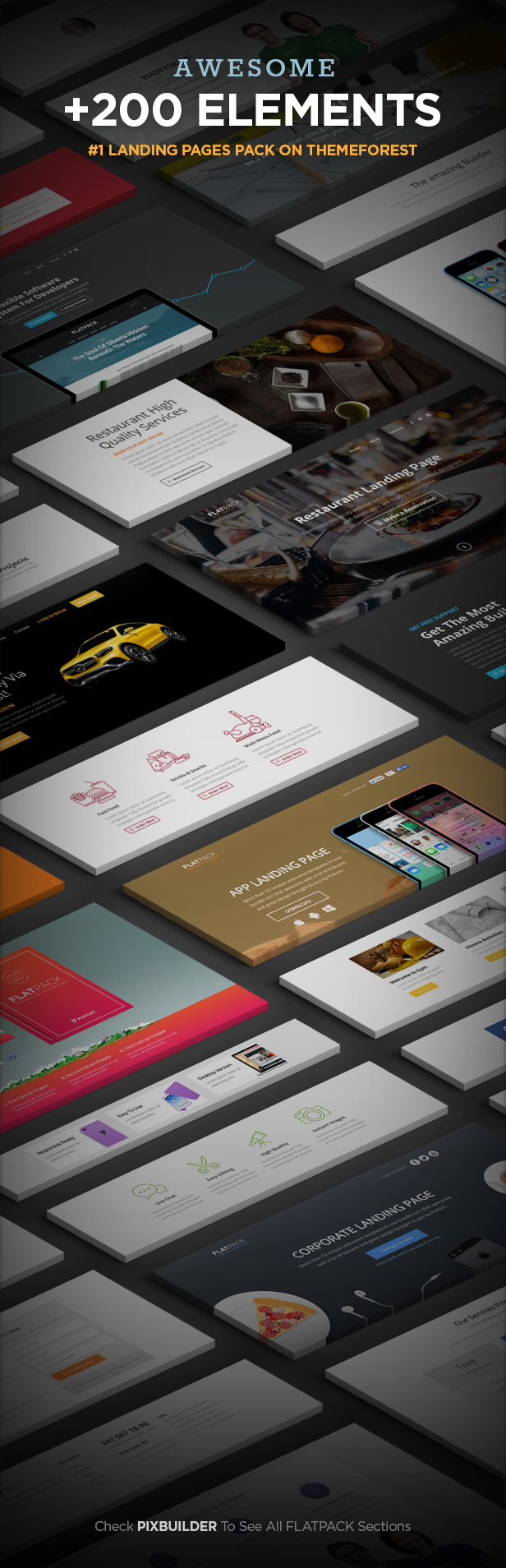 sections - FLATPACK – Landing Pages Pack With Page Builder