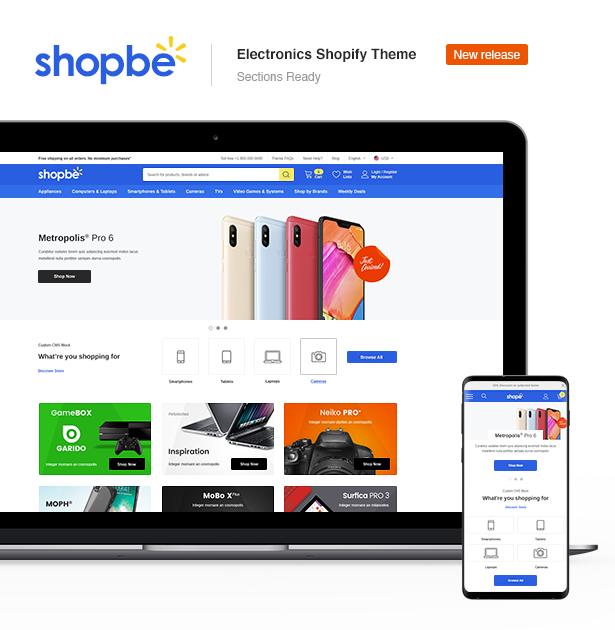 shopbe electronics shopify theme sections ready l - Ella - Multipurpose Shopify Sections Theme