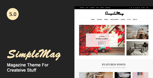 simplemag preview.  large preview - SimpleMag - Magazine theme for creative stuff