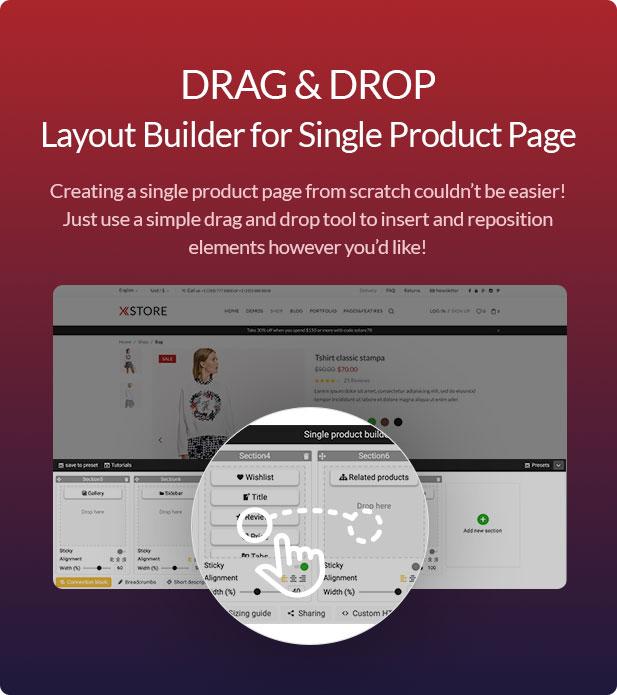 single layout builder - XStore | Responsive Multi-Purpose WooCommerce WordPress Theme