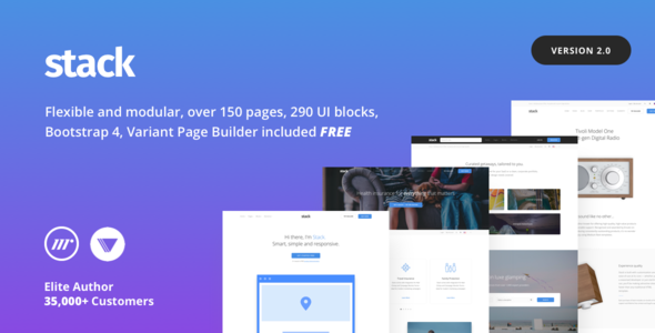 stack item preview 2 0.  large preview - Stack - Multi Purpose HTML with Page Builder