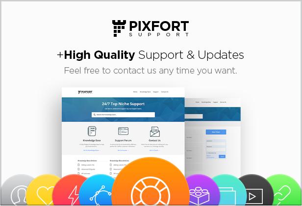 support updates - FLATPACK – Landing Pages Pack With Page Builder