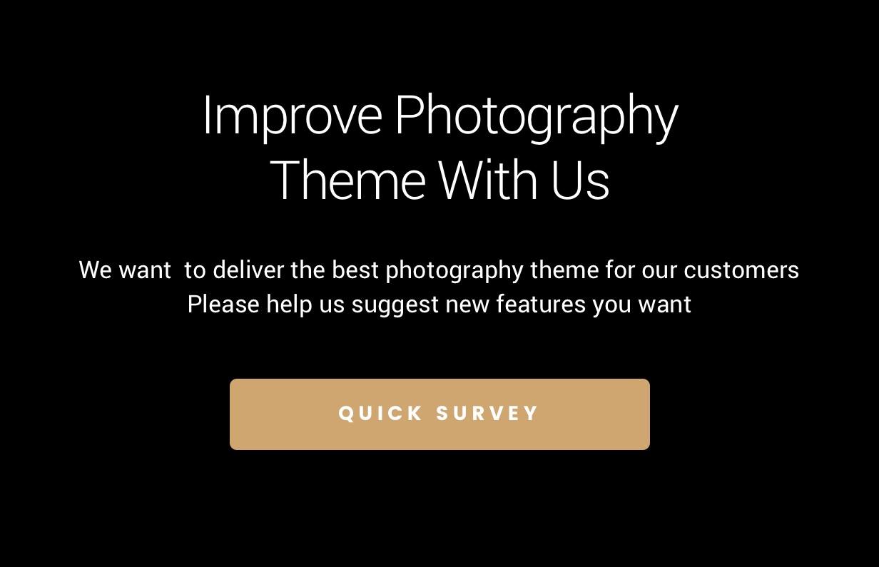 survey - Photography WordPress