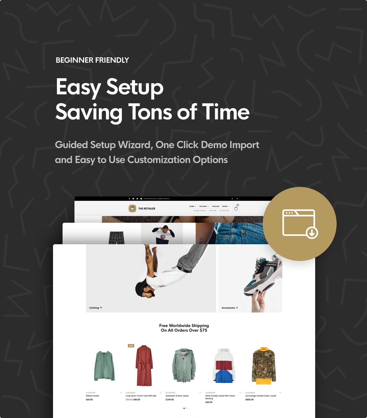 the retailer demo import - The Retailer - eCommerce WordPress Theme for WooCommerce