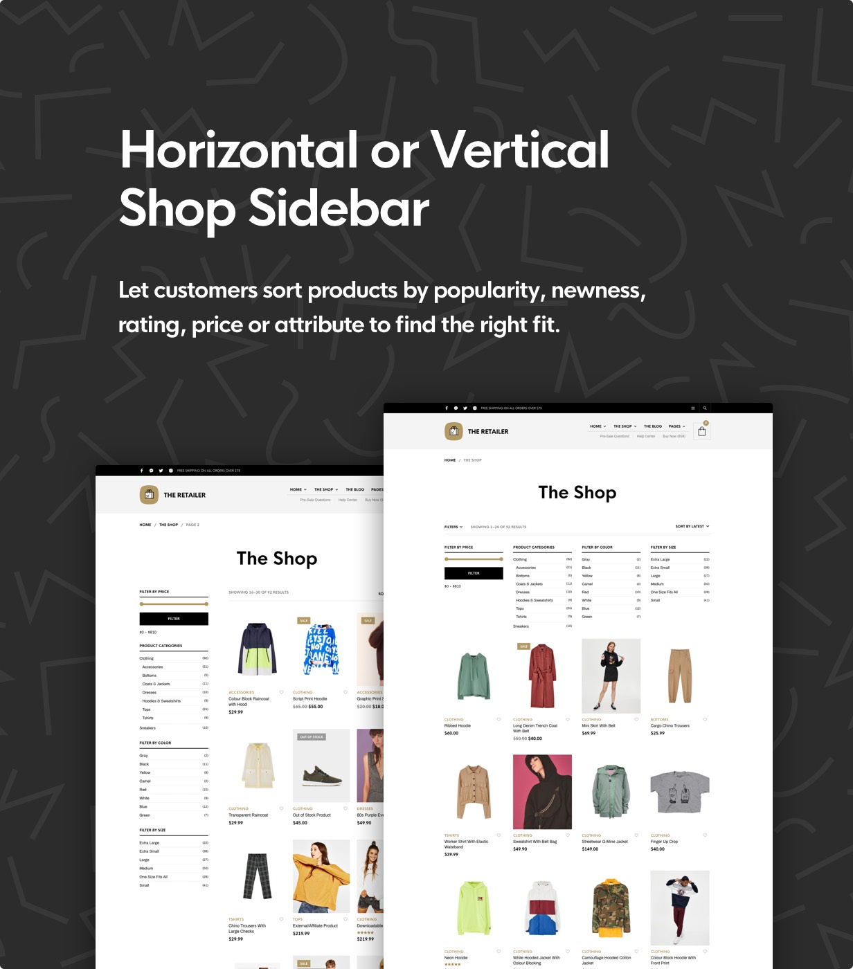 the retailer shop sidebars - The Retailer - eCommerce WordPress Theme for WooCommerce
