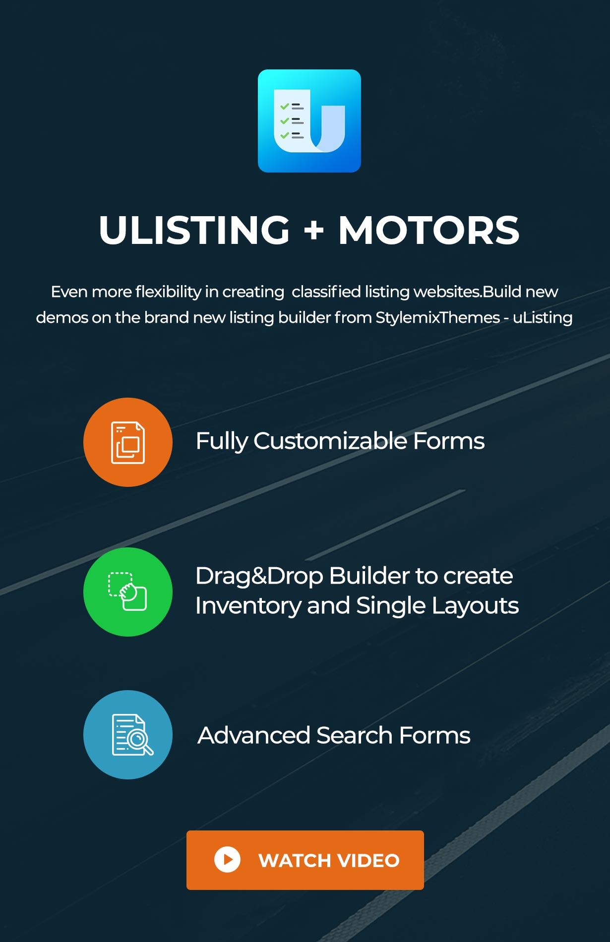 ulisting - Motors - Car Dealer, Rental & Classifieds WordPress theme