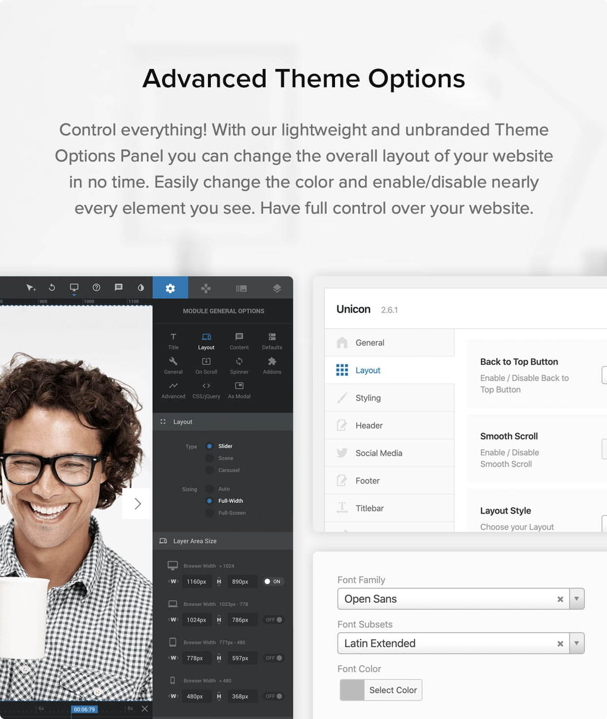 unicon themeoptions - Unicon | Design-Driven Multipurpose Theme