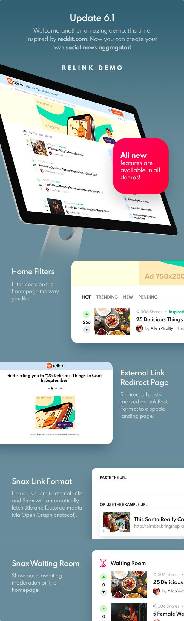 update 6 1 - Bimber - Viral Magazine WordPress Theme