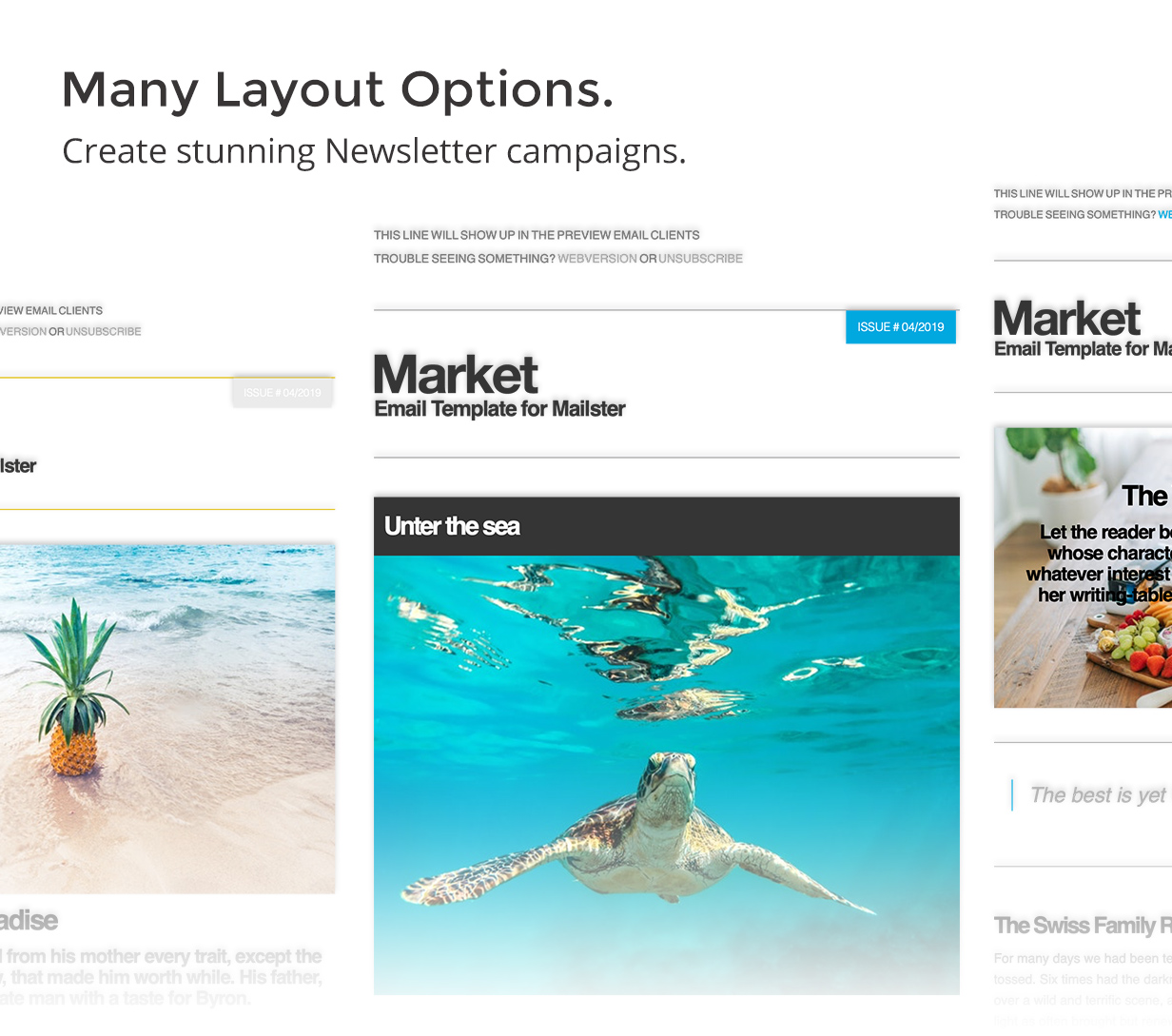 variations - Market - Email Template for Mailster