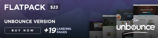version ad unbounce - FLATPACK – Landing Pages Pack With Page Builder