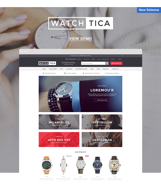 watchtica sections shopify theme - Ella - Multipurpose Shopify Sections Theme