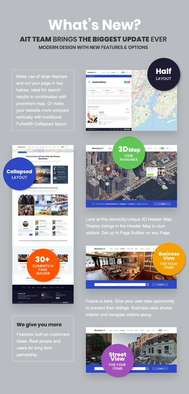 whats new - DirectoryPRO - WordPress Directory Theme