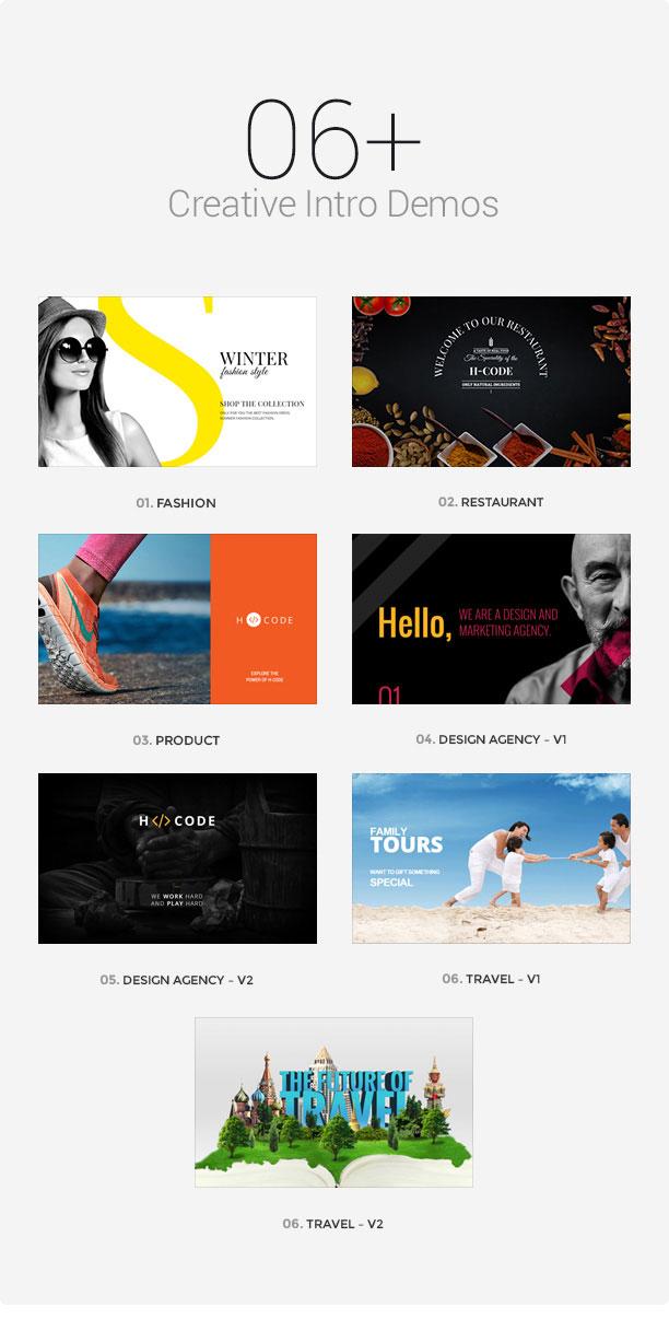 wp h code creative intro new - H-Code Responsive & Multipurpose WordPress Theme