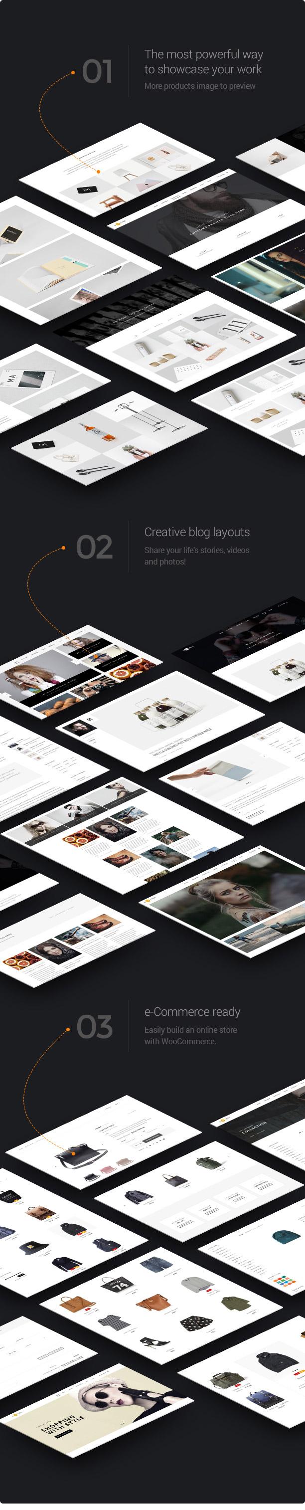 wp h code designs new - H-Code Responsive & Multipurpose WordPress Theme