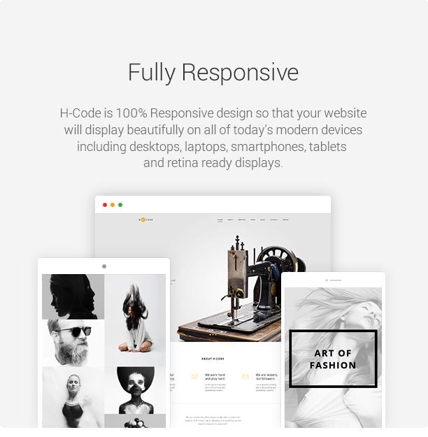 wp h code fully responsive new v2 - H-Code Responsive & Multipurpose WordPress Theme