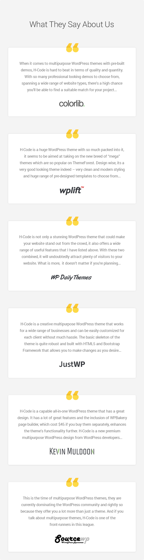 wp h code they wrote about new 08 feb 2019 - H-Code Responsive & Multipurpose WordPress Theme