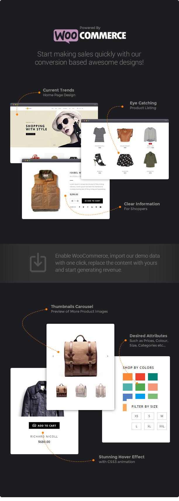 wp h code woo commerce new - H-Code Responsive & Multipurpose WordPress Theme