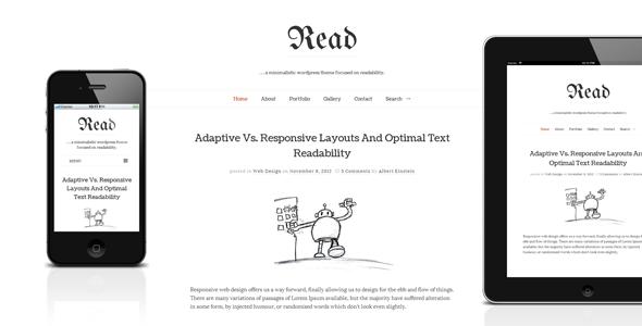 00.  large preview - Read WP - Minimalist WordPress Blog Theme