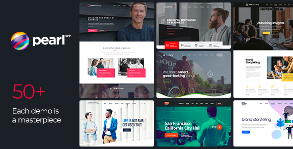 00 preview pearl.  large preview - Pearl - Corporate Business WordPress Theme