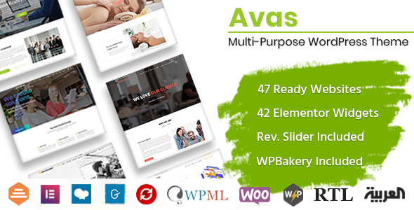 01 42widgets.  large preview - Avas | Multi-Purpose WordPress Theme