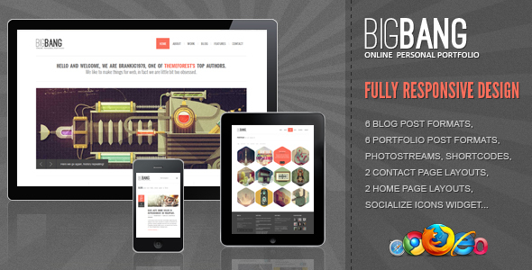 01 Banner.  large preview - Bigbang - Responsive WordPress Theme