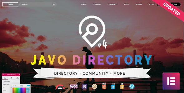 01 Javo Directory Preview.  large preview - Javo Directory WordPress Theme