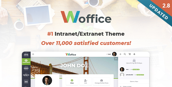 01 largepreview.  large preview - Woffice - Intranet/Extranet WordPress Theme