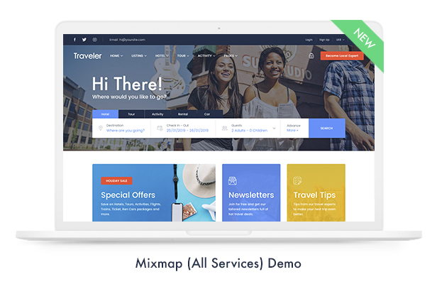 01 mixmap - Travel Booking WordPress Theme