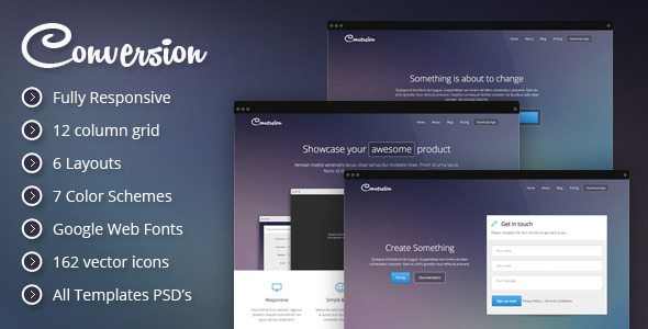 01 preview.  large preview - Conversion - Responsive Landing Page