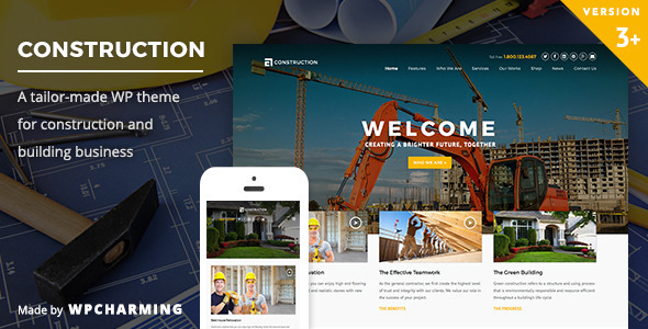 01 preview1.  large preview - Construction WordPress Theme