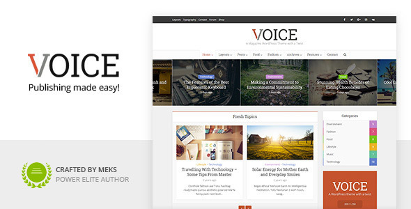 01 voice.  large preview - Voice - News Magazine WordPress Theme