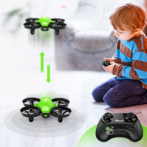 0276c9dd bc6c 4b09 8f77 6a64d5bad30a.  CR0,0,300,300 PT0 SX300 V1    - Potensic Upgraded A20 Mini Drone Easy to Fly Drone for Kids and Beginners, RC Helicopter Quadcopter with Auto Hovering, Headless Mode, Remote Control and Extra Batteries - Green
