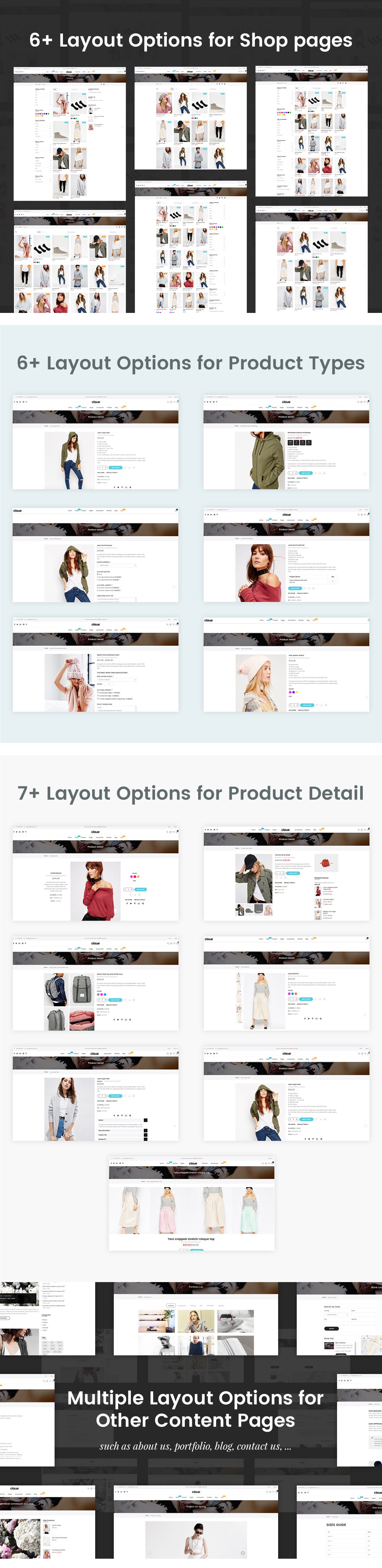 03 Layouts - Claue - Clean, Minimal Magento 2 and 1 Theme
