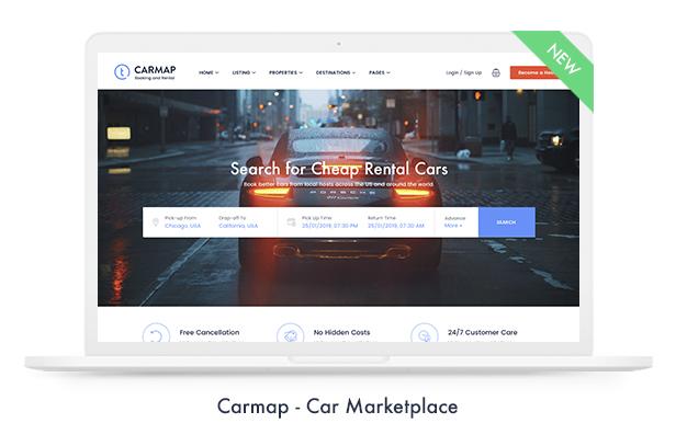 03 carmap - Travel Booking WordPress Theme