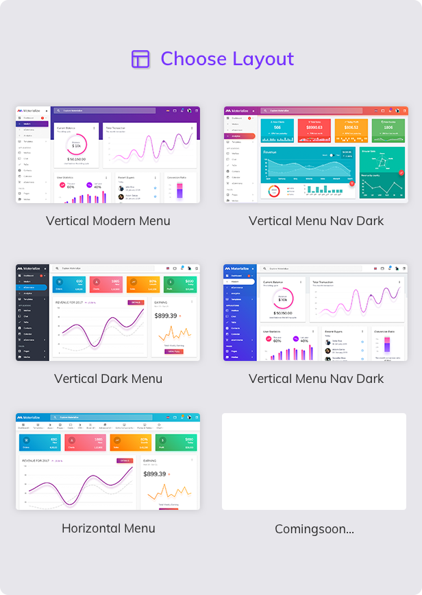 04 layout - Materialize - HTML & Laravel Material Design Admin Template